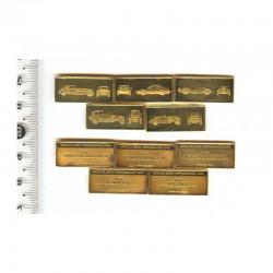 5 Lingots d argent plaqué or: les voitures  performantes ( 2 )