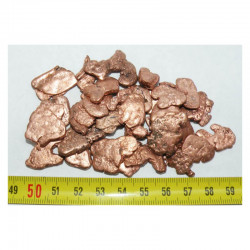 Lot de pepites de cuivre naturel ( USA - 100 grammes - 013 )