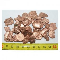 Lot de pepites de cuivre naturel ( USA - 100 grammes - 014 )