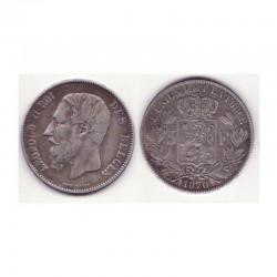 5 francs Leopole 2 1870 argent ( 4 )
