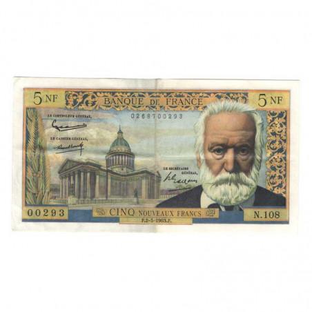 5 Francs Victor Hugo  02/05/1963 SUP ( 042 )