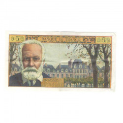 5 Francs Victor Hugo  02/05/1963 SUP ( 042 )