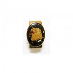 Pince a billet tete d aigle avec de vrais pepites d or
