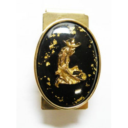 Pince a billet chercheur d or avec de vrais pépites d or