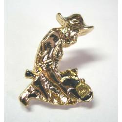 Pins chercheur d or avec de vrais pepites d or