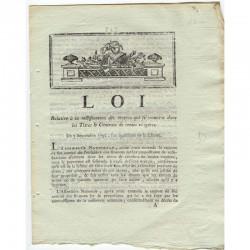 loi Revolutionalre 1792 Rentes viageres ( 094 )