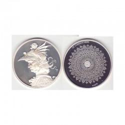 Medaille en argent Collection Leonard de Vinci ( 52 grammes - 010 )