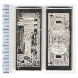 lingot d argent les plus beau billets du monde ( 027 )