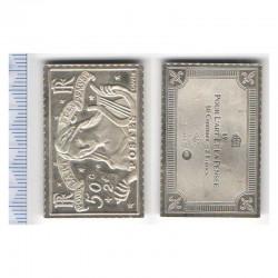 lingot d argent les plus grands timbres de France ( 007)