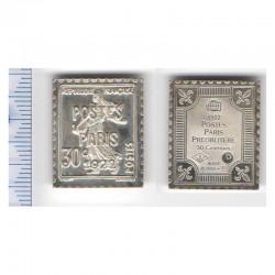lingot d argent les plus grands timbres de France ( 009 )
