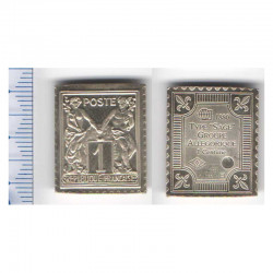 lingot d argent les plus grands timbres de France ( 010 )