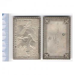 lingot d argent les plus grands timbres de France ( 011 )
