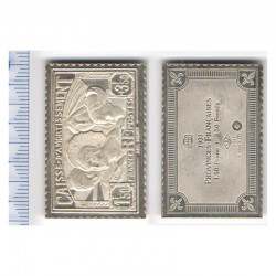 lingot d argent les plus grands timbres de France ( 012 )