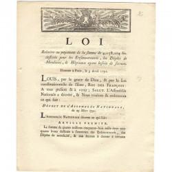 loi Royale - relative au payement de la somme.. ( 096 )