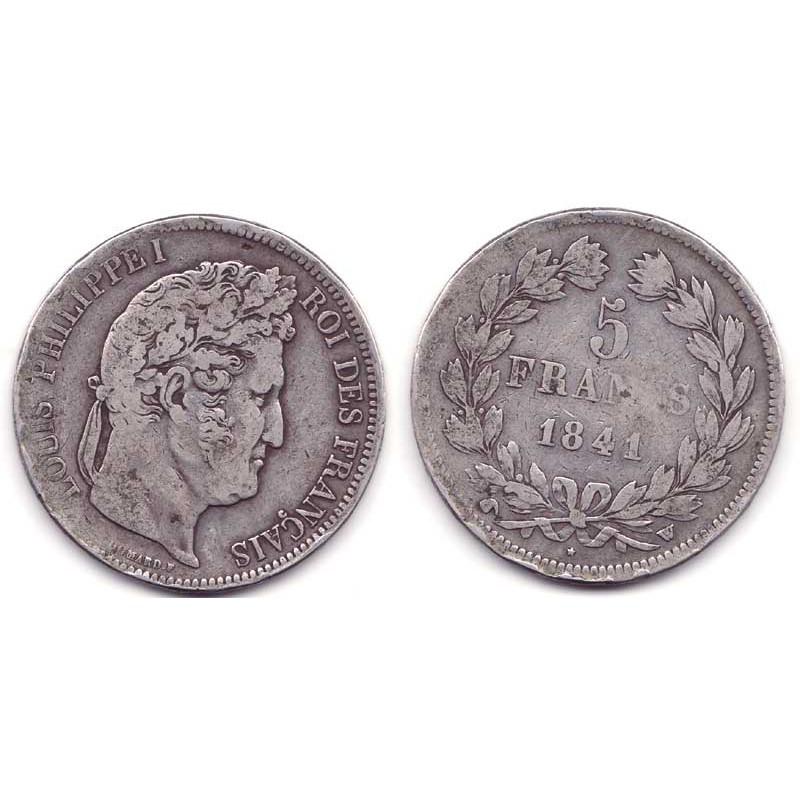 5 francs Louis Philippe 1841 W Argent ( 003 )