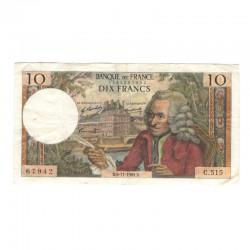 10 Francs Voltaire 06/11/1969 TTB  ( 418 )