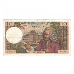 10 Francs Voltaire 06/07/1967 TTB ( 447 )