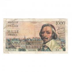 1000 F Richelieu 03/09/1953 TTB  ( 494 )
