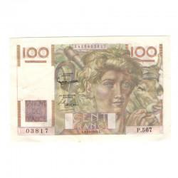 100 Francs Jeune Paysan 01/10/1953 SUP ( 622 )