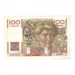 100 Francs Jeune Paysan 02/10/1952 SUP ( 625 )