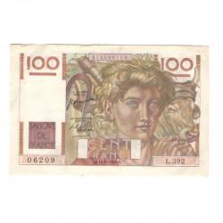 100 Francs Jeune Paysan 16/11/1950 SUP + ( 626 )