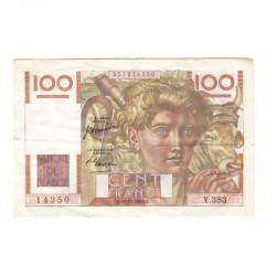 100 Francs Jeune Paysan 16/11/1950 SUP ( 627 )