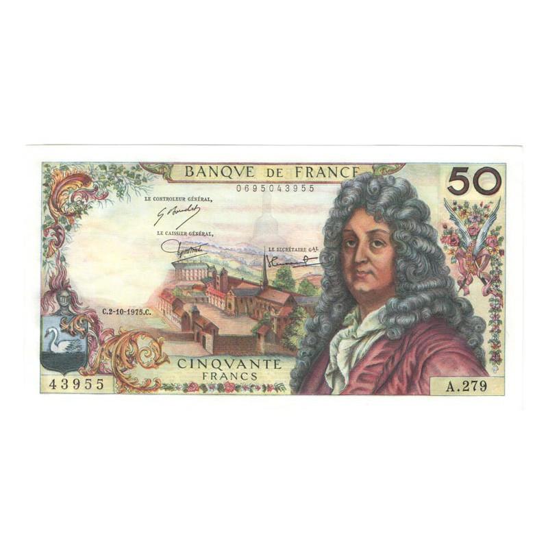 50 Francs Racine 02/10/1975 SUP + ( 634 )