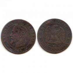2 cents Napoleon 3 1861 BB