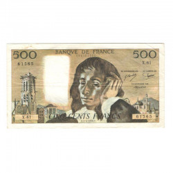 500 F Pascal 01/04/1976 TTB ( 666 )