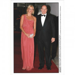 Photo originale Monaco Charlene et prince Albert GP Monaco 2007 ( 043)