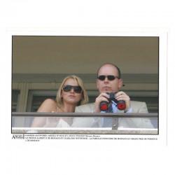 Photo originale Monaco Charlene et prince Albert GP Monaco 2007 ( 045 )
