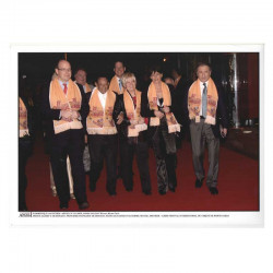Photo originale Monaco Stephanie, Prince Albert, H Salvador , M Drucker - cirque 2007 ( 060 )