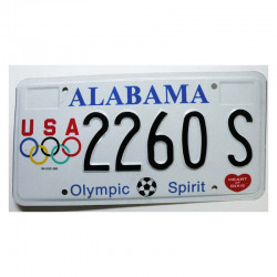 Plaque d Immatriculation USA - Alabama ( 1212 )