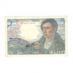 5 Francs Berger 05/04/1945 SPL  ( 673 )