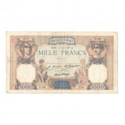 1000 Francs Ceres et Mercure 07/04/1927 TB  ( 683 )