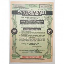 Titre au porteur ancien : SA la sequanaise ( 751 )