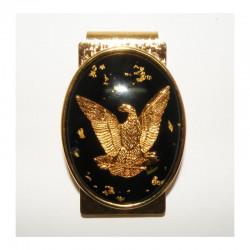 Pince a billet  aigle avec de vrais pepites d or