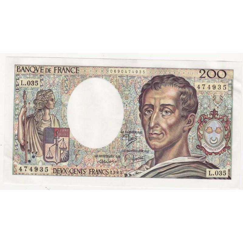 200 Francs Montesquieu 1985 L035 SPL ( 290 )