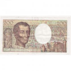 200 Francs Montesquieu 1992 U119 TTB + ( 280 )