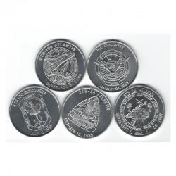 lot de 5 medailles en Alu NASA Space Shuttle Missions STS ( 009 )