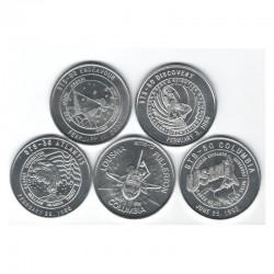 lot de 5 medailles en Alu NASA Space Shuttle Missions STS ( 022 )