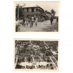 2 Photos originales 40 ° Division Americaine aux Philippines WWII ( 203 )
