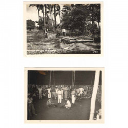 2 Photos originales 40 ° Division Americaine aux Philippines WWII ( 205 )