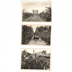 3 Photos originales 40 ° Division Americaine aux Philippines WWII ( 206 )