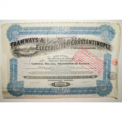 Action Anciene Tramway de Constantinople ( 474 )