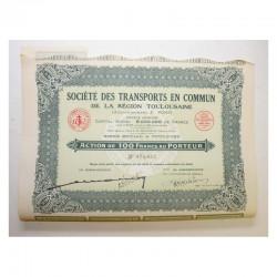 lot de 10 Actions anciennes: Sté des transports en commun de Toulouse F.Pons