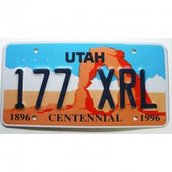 Plaque d Immatriculation USA - Utah ( 1194 )