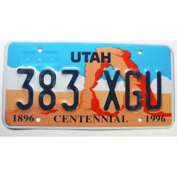 Plaque d Immatriculation USA - Utah ( 653 )