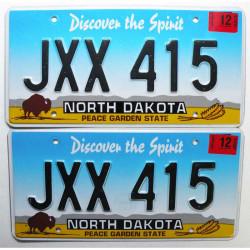 Paire de Plaque d Immatriculation USA - North Dakota ( 075 )