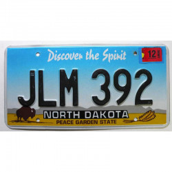 Plaque d Immatriculation USA - North Dakota ( 1250 )